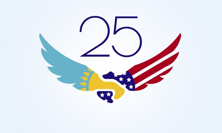 Official logo of the 25 years together campaign
